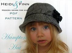 Hampton Hat pattern and tutorial 12M-5T easy sew PDF pattern