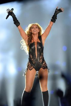 Victorious! Beyoncé performing during the 2013 Super Bowl.