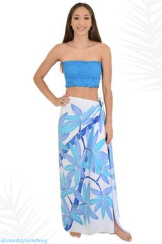 Stunning Ladies Sarong 'Blue Bamboo' - Hand-Painted (Batik Style) features Bamboo leaves in different shades of Blue. Beautiful Plus Size Beach Bikini Cover, even use as beach towel, wall hanging or table cloth. Many styles to choose from. Coconut Sarong Clip included. #sarong #beachcoverup #handpaintedsarong #batiksarong #bikinicover #frangipani #plumeria #hawaiian #luauparty #cruisewear #cruise #beach #vacation #springbreak #hulagirl #sexy #sarongclip #coconutclip #sarongbuckle