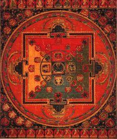 Mandala of an Esoteric Form of Manjusri Central Tibet, 14th century 65.5 x 53.5 cm