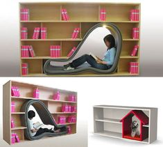 combination-chair-lounger-bookcase-design
