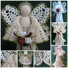 Angels in August Sale at Heritage Heartcraft! This gorgeous crocheted angel stands about 11 inches tall and is shown worked in crisp white thread and natural and antique white. She holds a bouquet of crocheted roses and ribbons which may be customized with favorite or birth month colors. This carefully handcrafted angel is perfect for the top of your Christmas tree or to display on your mantle or shelf all year round! thread crochet angel