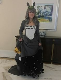 Totoro gown with soot sprites
