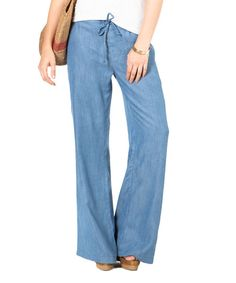 Light Denim UPF 50+ Palazzo Pants - Women