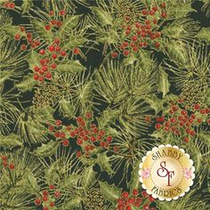 Woodland Christmas 24469-BLA1 By Sandy Lynam Clough For Red Rooster Fabrics