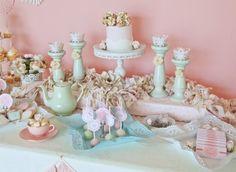doili tea, tea parti, vintage pink, high tea, party printables, tea food, baby girl shower, vintag doili, vintage tea