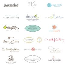 Lovely logos also cute for stationary monograms