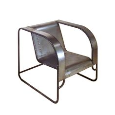 Rustbelt Rebirth: Steel Tube Club Chair from Orbus Collection by Rustbelt Rebirth   VandM.com