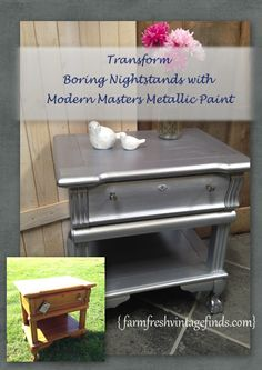 Modern Masters Metallic Paint Review - Farm Fresh Vintage Finds