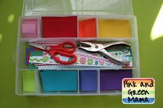 Scissor Practice - Paper Cutting Box