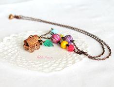 Living a gypsy life, boho hippie necklace