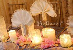 bridal shower decorations, bridal tea, vintage weddings, wedding ideas, decorating ideas, candle holders, shabby chic weddings, parti, bridal showers