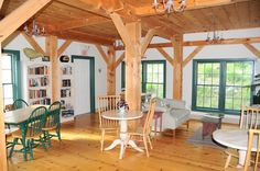 A nice shot of the sunny Library at the Inn at Silver Maple Farm in the Berkshire foothills of upstate New York.