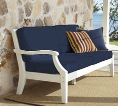 Hampstead Sofa & Cushion - White #potterybarn