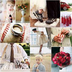 baseball wedding theme photo