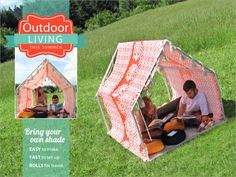 Playhouse Tent - Lounge Cabana: Outdoor Living with Fabric.com | Sew4Home play tents, cabana, playhous tent, loung