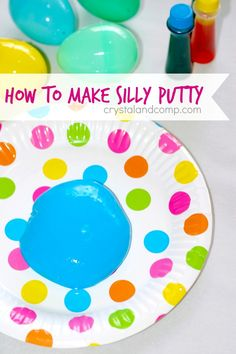 How to Make Silly Putty with Borax- these would make really cute end of the year gifts!
