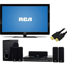 """RCA 46"""" LCD 1080p 60Hz, 46LB45RQ, RCA Home Theater System with 6ft HDMI Cable, TV Bundles"""