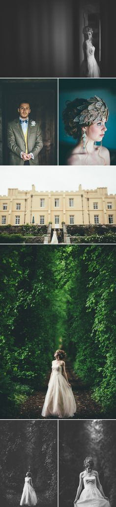 Amazing headpiece by whiteginger@hotmail.co.uk Rustic Elegance Styled Shoot by Blue Fizz at Pentillie Castle   Style Focused Wedding Venue Directory   Coco Wedding Venues
