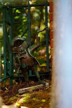 Mr. Toad garden ornament.