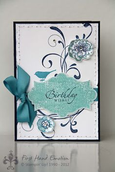 Stampin' UP! Everything Eleanor, Sincere Salutations by First Hand Emotion