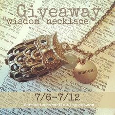 """Creative Carmella: Christmas in July!! Giveaway time! Win this """"Wisdom"""" Owl necklace"""