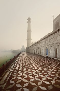 The back of the Taj Mahal, India