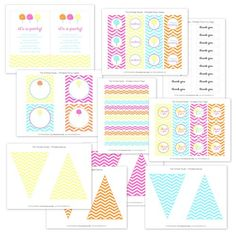 Cotton Candy Printable Party Collection from The TomKat Studio Shop www.shoptomkat.com