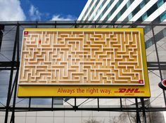 dhl maze balls, btl, advertis, courier, billboard, campaign, adversit, design, belts