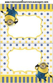 Minions Party Invitations, Free Printables.
