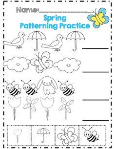 sight patterning kdg! kindergarten Spring australia practice  printables words for