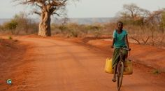Quiet Way has some great pictures to show the time taken to collect water in Kenya, usually in old jerry cans, usually by women