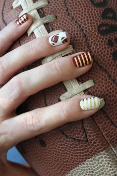 college football gameday nails #manicure