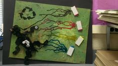 Art made from and with used ink cartridges