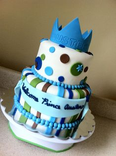 Prince Cake--Welcome Baby Roman