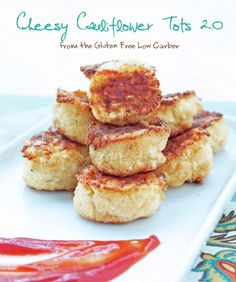 Cheesy Cauliflower Tots (low carb and gluten free) - ibreatheimhungry.com