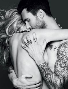 Adam Levine and Anne Vyalitsyna for Vogue Russia November 2011