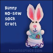 No-sew Sock Bunny Craft from www.daniellesplace.com