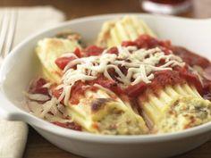 Healthified Three-Cheese Manicotti