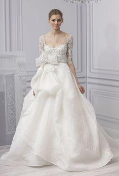Vestido de novia 2013 estilo princesa con mangas 3/4