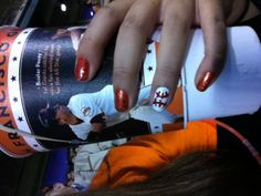 San francisco giants baseball nails :)
