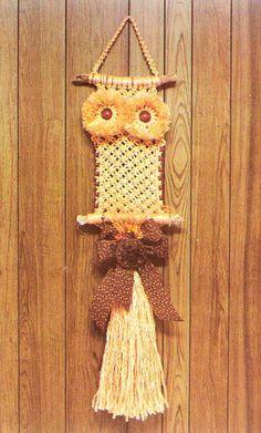 classic orange macrame owl