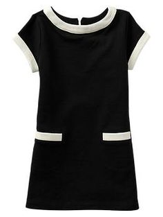 Contrast French terry pocket dress   Gap