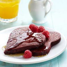 Cocoa-Kissed Red Velvet Pancakes Recipe