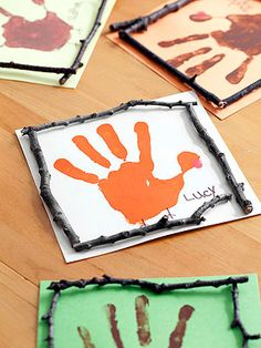 A Quick Craft That'll Last: These handprint place cards take just a few minutes to make but will grace your holiday table for years.