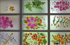 Faux Stained Glass.  This would be so fun in my girls' room.