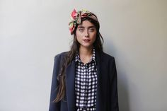 """""""Like A Boss"""" man's jacket in blue-also available in black """"Do We Have A Plan B?"""" midi, plaid shirtdress-also available in polka dots  KARAVAN Clothing"""