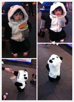 ADORABLY cute kid in panda kigurumi