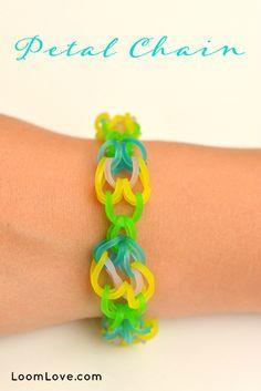 How to Make a Petal Chain Rainbow Loom Bracelet