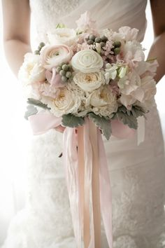 Pastel bouquet: http://www.stylemepretty.com/new-york-weddings/new-york-city/manhattan/2014/05/06/traditional-ballroom-wedding-at-the-ritz-carlton/ | Photography: 2Be Photo - http://2bephoto.com
